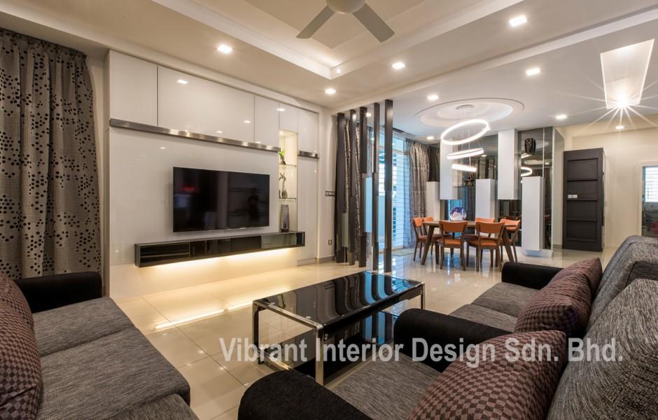 Living room interior 3 vibrant interior design sdn bhd for Foto interior design